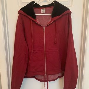VS Pink Full Zip Sweatshirt XL